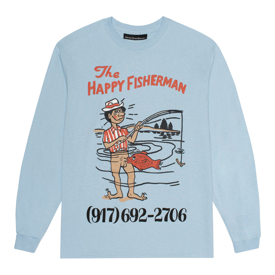 Happy Fisherman Long Sleeve T-Shirt