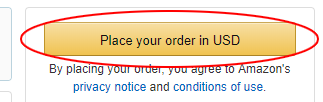 Final checkout Amazon US
