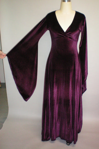 Cross Front Stretch Velvet Dress by Crimson Gypsy Designs