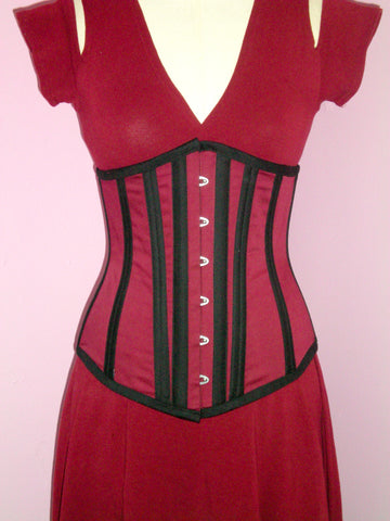 Long Hip Underbust Corset - Center Front
