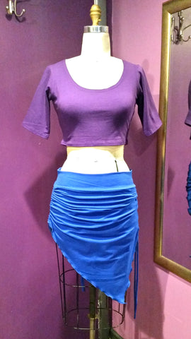 Drawstring Asymmetrical Skirt