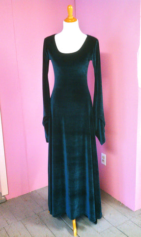 Scoop Neck Stretch Velvet Dress by Crimson Gypsy Designs