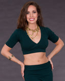 Cross Front Belly Dance Midriff Top