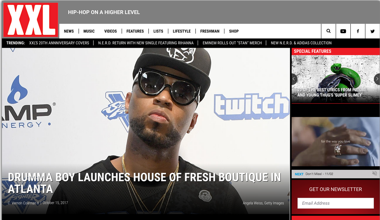 XXL Magazine: Drumma Boy Launches House of Fresh Boutique in Atlanta