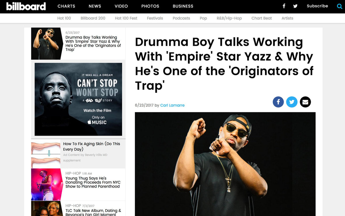 Billboard Magazine features Drumma Boy Exclusive