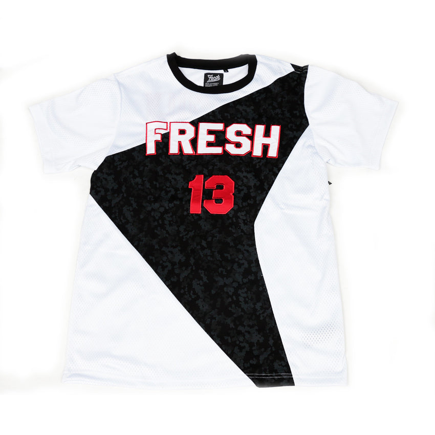 Fresh 13 Mesh T Shirt (White/Red)