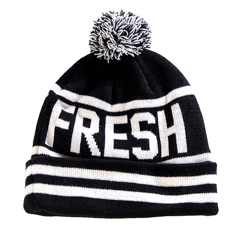 Black White Beanie from Fresh Phamily Clothing