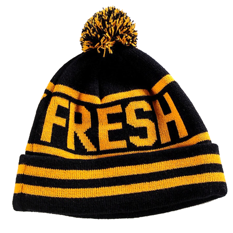 Black Yellow Beanie from Fresh Phamily Clothing