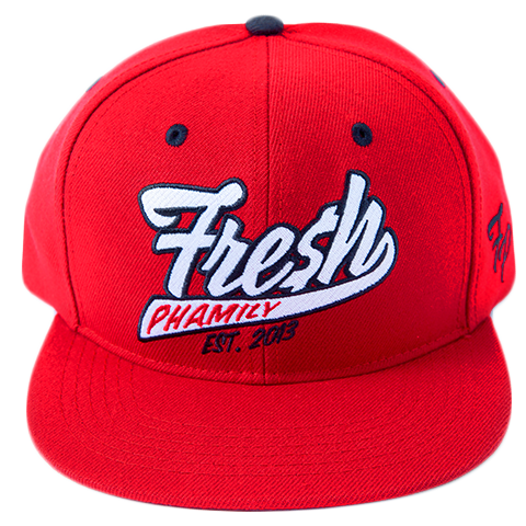 Fresh Phamily Snapback in Red from Fresh Phamily Clothing