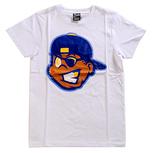 White/Navy Knucklehead Tee from Fresh Phamily Clothing