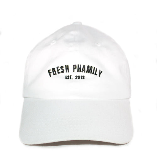 White Dad Hat Fresh Phamily