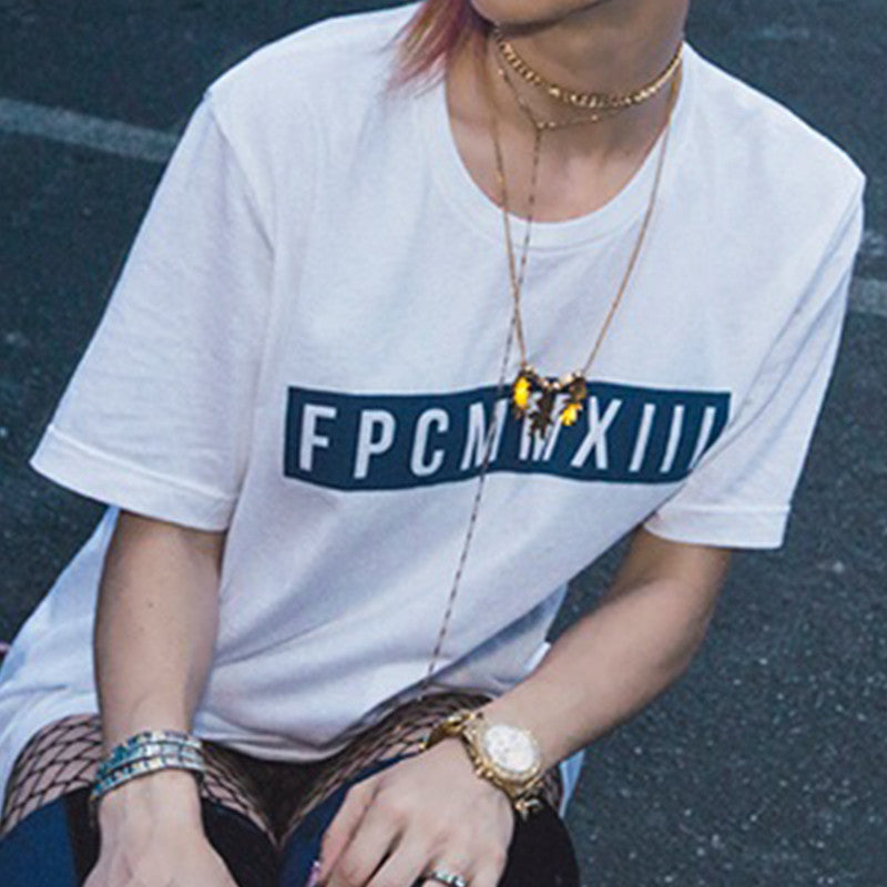 White FPCMMXIII Blue Label T-shirt