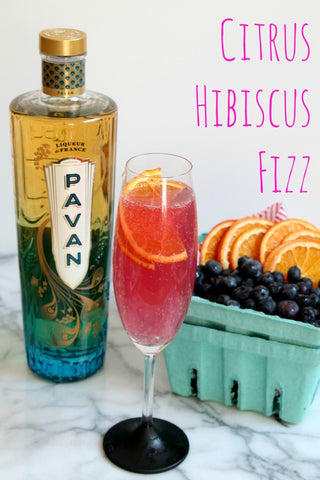"""Citrus Hibiscus Fizz"" Cocktail"
