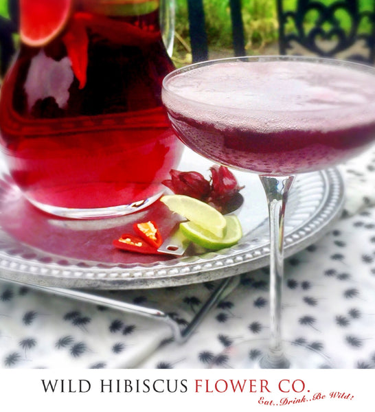 Preserved Lemon Foam Hibiscus Margarita
