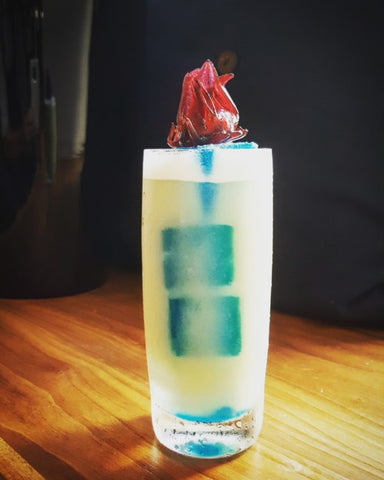 Fire and Ice (AKA The White Walker) Butterfly Pea Flower / Wild Hibiscus Cocktail