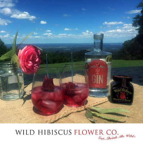 Wild Hibiscus and Rose Gin cocktail