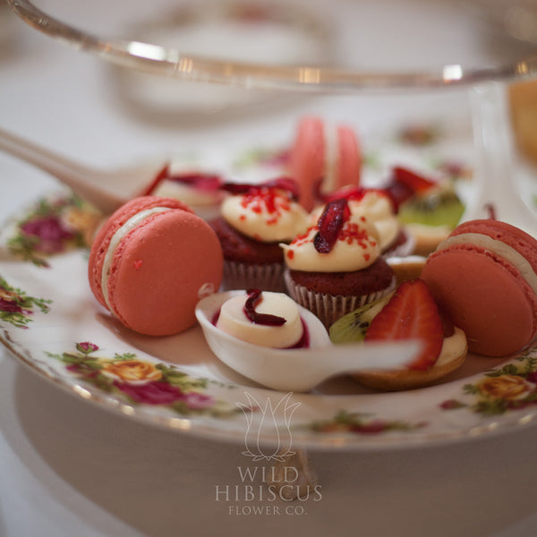 Wild Hibiscus Macaroons High Tea