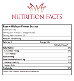 Rose And Hibiscus Flower Extract Nutrition Facts