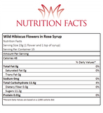 Wild Hibiscus Flowers In Rose Syrup Nutrition Facts