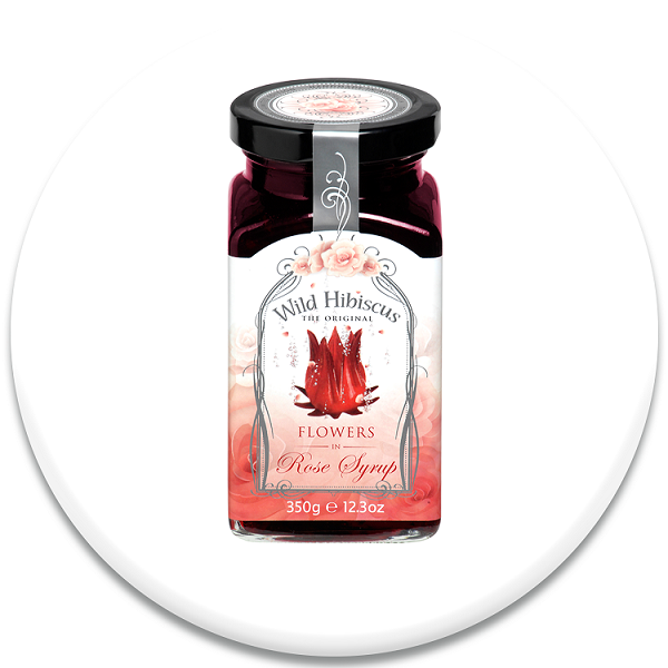 Wild Hibiscus Flowers In Rose Syrup Flowers In Champagne And