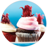 Wild Hibiscus Frosting Cupcakes