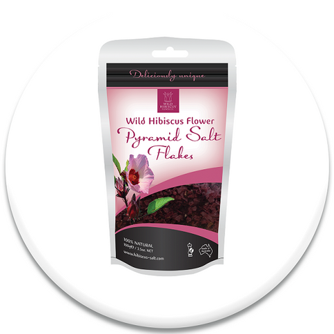 Wild Hibiscus Flower Pyramid Salt Flakes