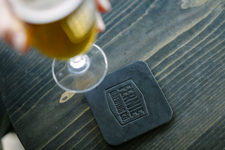 Fernie Brewing Co - Leather Coaster Set (4pk)