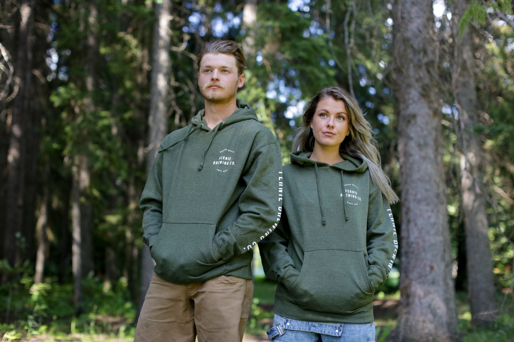 Unisex - Genuine Quality Pullover Hoody - Army Heather