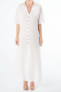 Draya Shirt Dress (Cream)