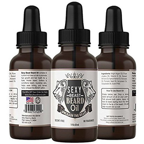Beard Oil For Men - Natural Unscented