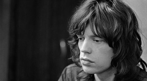 Young Mick Jagger with Natural Wavy Curls