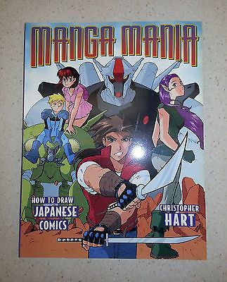 Manga Mania How to Draw Japanese Comics by Christopher Hart Paperback Good Cond.