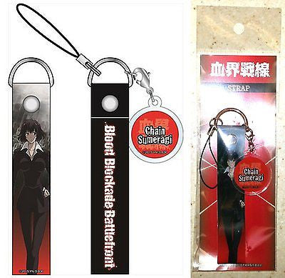 Blood Blockade Battlefront Strap with Acrylic Charm Chain Sumeragi Toho Licensed
