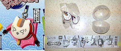 Nyanko-Sensei Japanese Toy Figure Strap Den Den Daiko Takara Tomy Arts Cat Kitty