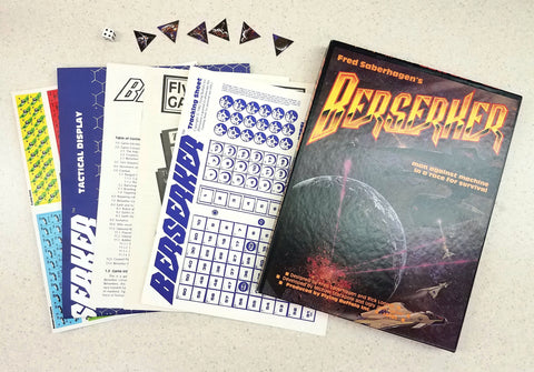 Fred Saberhagen's Berserker Board Game Flying Buffalo Inc Tactical Space 1982 Ed