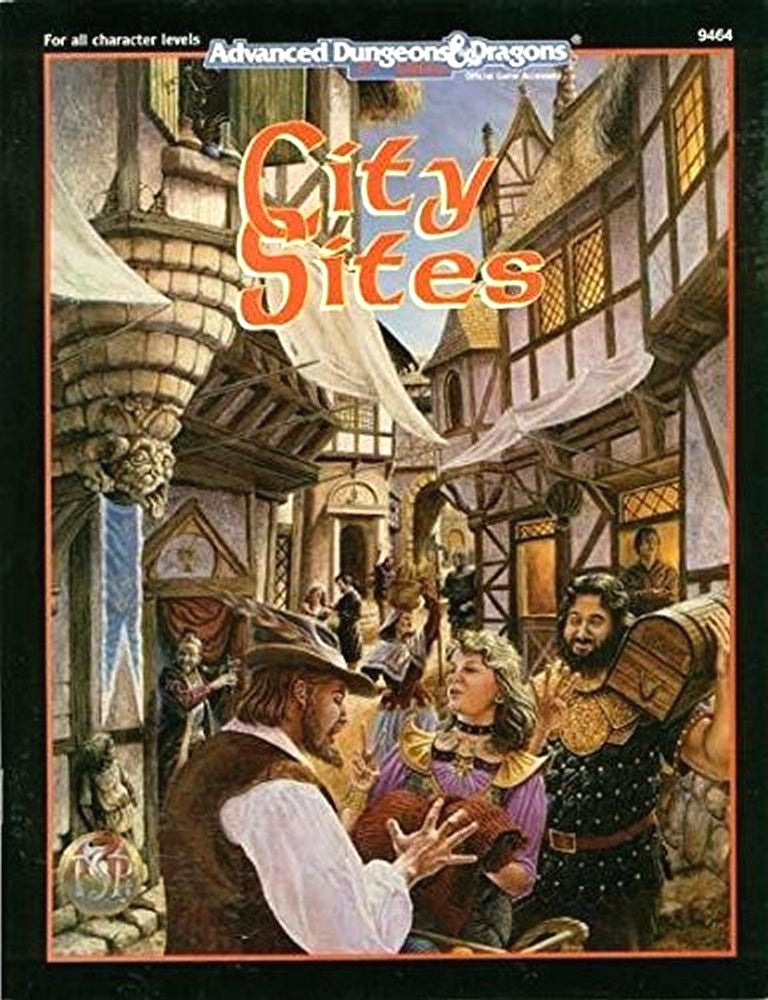 City Sites Advanced D&D 2nd Ed. Skip Williams TSR, Inc. Paperback Used Good Cond