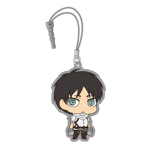 Attack on Titan Chimi Attack Earphone Jack Mascot 2 Eren Cleaning Licensed New