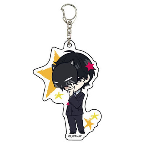 Anonymous Noise Acrylic Key Chain 01 Momo Sasaki Silent Black Kitty Licensed New