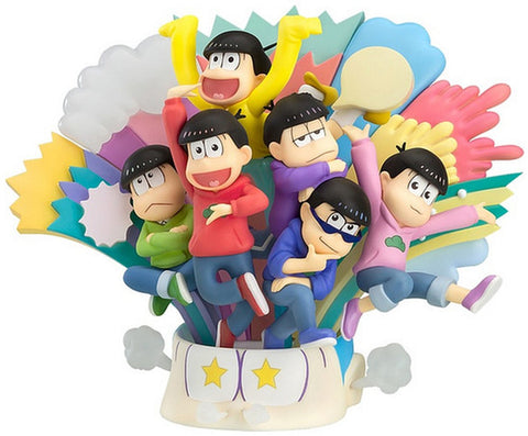 Osomatsu-San Diorama Figure All 6 Matsuno Brothers Orange Rouge Good Smile Co NW