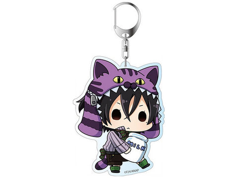 "Anonymous Noise Deka Key Chain Kanade Yuzuriha Yuzu Cheshire 3.9"" Licensed New"