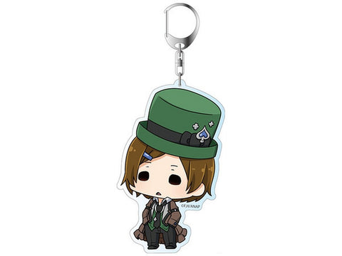"Anonymous Noise Deka Key Chain Ayumi Kurose Kuro Mad Hatter 3.9"" Licensed New"