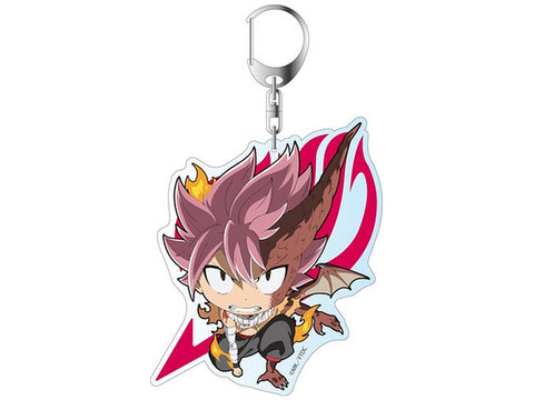 "Movie Fairy Tail Dragon Cry Deka Key Chain Natsu Dragneel Dragon Force 3.9"" New"