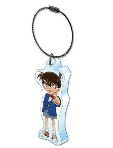 Aclear Acrylic Keyring Detective Conan Case Closed Conan Pointing TMS Licensed