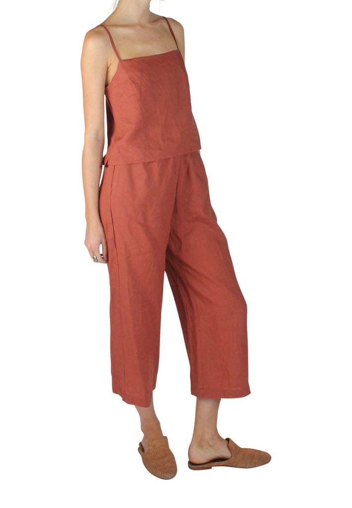 Pacific Linen Pants Rust