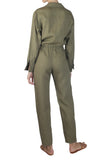 Linen Boilersuit Khaki