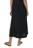 Pacific Linen Skirt Black