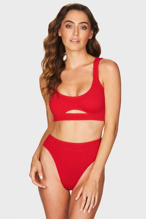 Sasha Crop Red