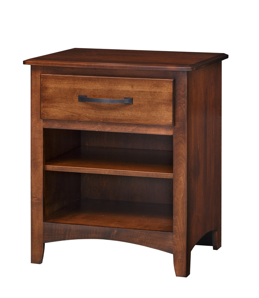 Concord 1-Drawer Night Stand with Open Shelf