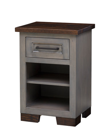 1 Drawer Hudson Nightstand with Shelf