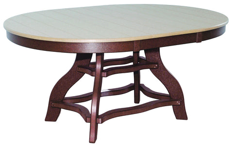 Oval Amish Poly Lumber Table